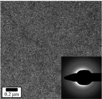 Transmission electron micrograph and electron diffractogram